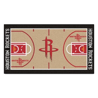Fanmats Machine-made Houston Rockets Tan Nylon Court Runner (2' x 3'6)