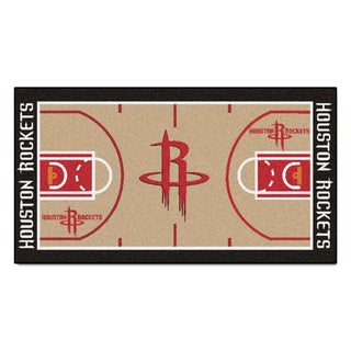 Fanmats Machine-made Houston Rockets Tan Nylon Court Runner (2' x 3'6)