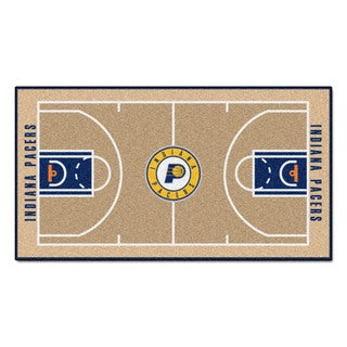 Fanmats Machine-made Indiana Pacers Tan Nylon Court Runner (2' x 3'6)