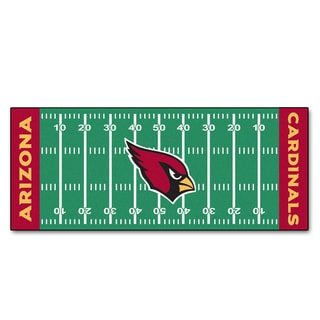 Fanmats Machine-made Arizona Cardinals Green Nylon Football Field Runner (2'5 x 6')