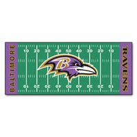 Fanmats Machine-made Baltimore Ravens Green Nylon Football Field Runner (2'5 x 6')