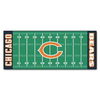 Fanmats Machine-made Chicago Bears Green Nylon Football Field Runner (2'5 x 6')