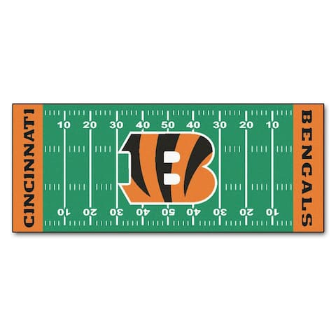 "FANMATS NFL - Cincinnati Bengals Football Field Runner 30""x72"""