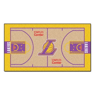 Fanmats Machine-made Los Angeles Lakers Tan Nylon Court Runner (2' x 3'6)