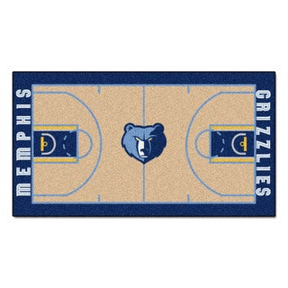 Fanmats Machine-made Memphis Grizzlies Tan Nylon Court Runner (2' x 3'6)