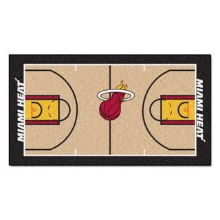 Fanmats Machine-made Miami Heat Tan Nylon Court Runner (2' x 3'6)|https://ak1.ostkcdn.com/images/products/10130815/P17268095.jpg?impolicy=medium