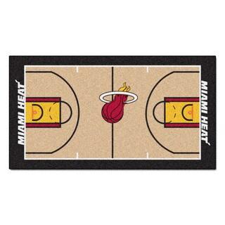 Fanmats Machine-made Miami Heat Tan Nylon Court Runner (2' x 3'6)
