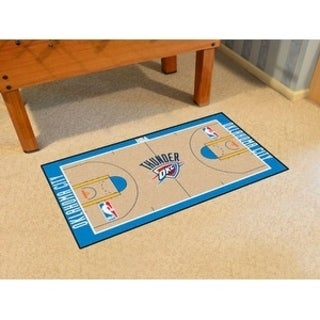 Fanmats Machine-made Oklahoma City Thunder Tan Nylon Court Runner (2' x 3'6)