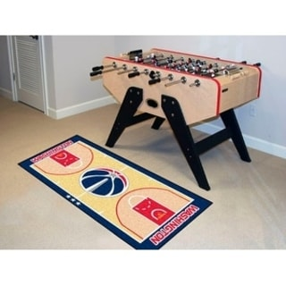Fanmats Machine-made Washington Wizards Tan Nylon Court Runner (2' x 3'6)