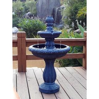 Solar 2-Tier Tulip Water Fountain