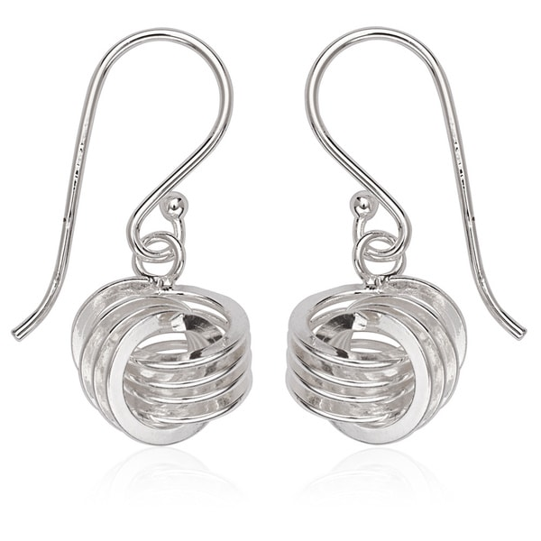 La Preciosa Sterling Silver Knot Dangle Earrings