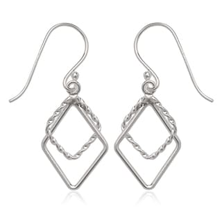 La Preciosa Sterling Silver Open Dangle Earrings