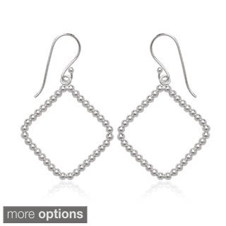 La Preciosa Sterling Silver Open Beaded Dangle Earrings