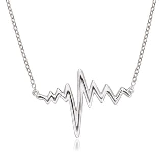La Preciosa Sterling Silver Heartbeat Necklace