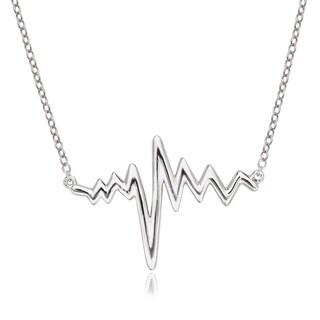 La Preciosa Sterling Silver Heartbeat Necklace