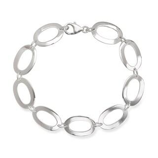 La Preciosa Sterling Silver Open Oval Link Bracelet