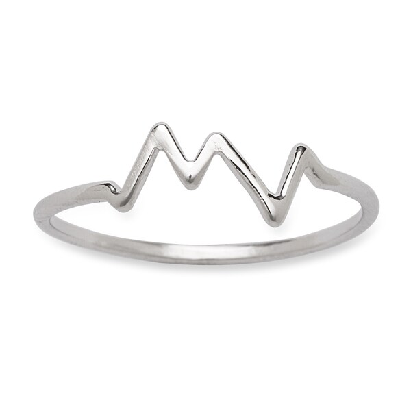La Preciosa Sterling Silver Heartbeat Ring