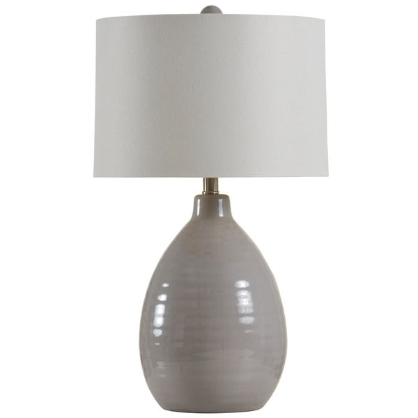 Cool Gray Gourd Table Lamp