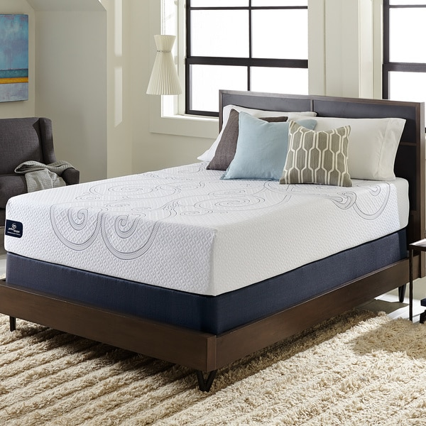 Serta Perfect Sleeper Isolation Elite 12 Inch King Size Gel Memory Foam Mattress Set Free