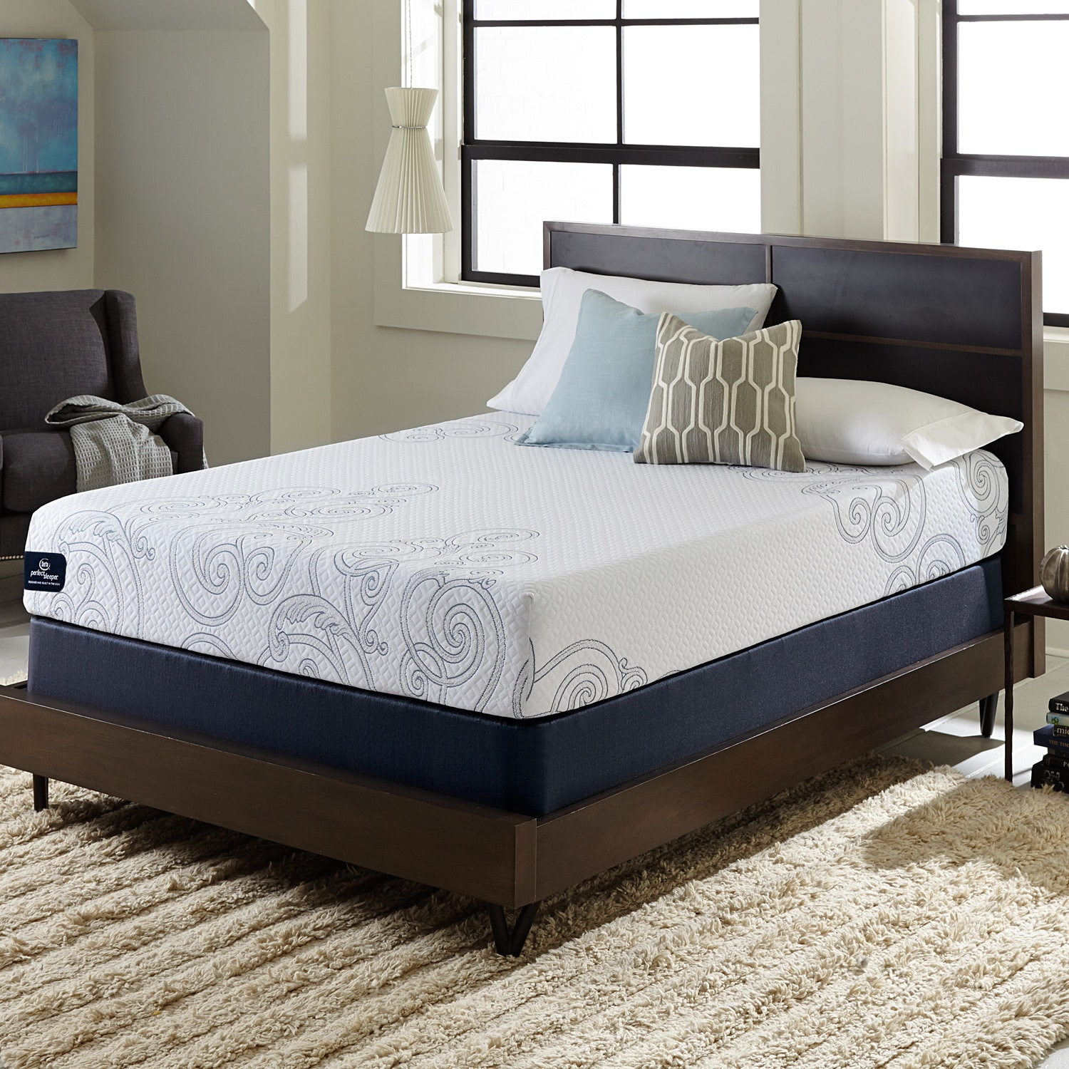 Serta Perfect Sleeper Isolation 10-inch Split Queen-size ...