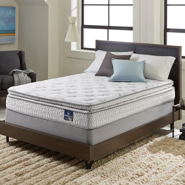 Shop Serta Extravagant Pillow Top King size Mattress Set   Free