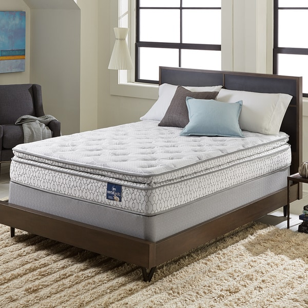 Shop Serta Extravagant Pillow Top Queen Mattress Set Free Shipping