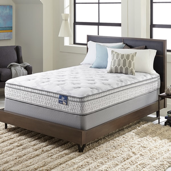 Serta Extravagant Euro Top Twin size Mattress Set Free