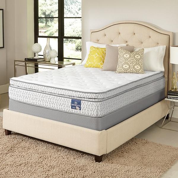 serta amazement pillow top king size mattress set free shipping today 17268230. Black Bedroom Furniture Sets. Home Design Ideas