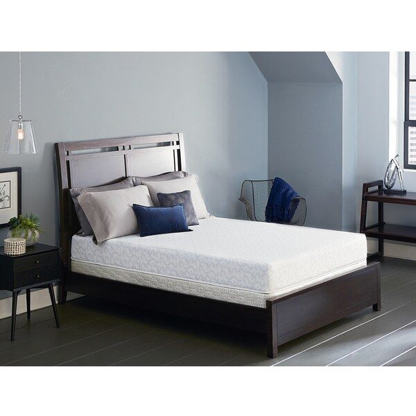 serta lure 8inch cal kingsize gel memory foam mattress set