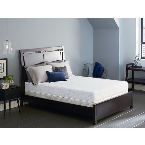 shop serta lure 8 inch twin xl size gel memory foam mattress set free shipping today. Black Bedroom Furniture Sets. Home Design Ideas