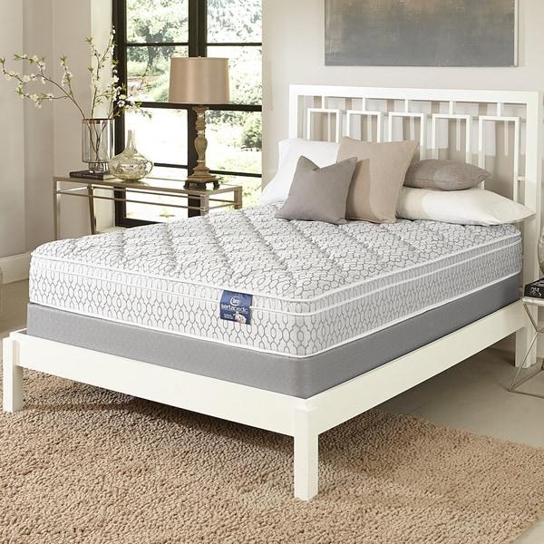 shop serta gleam euro top king size mattress set free shipping today 10130986. Black Bedroom Furniture Sets. Home Design Ideas