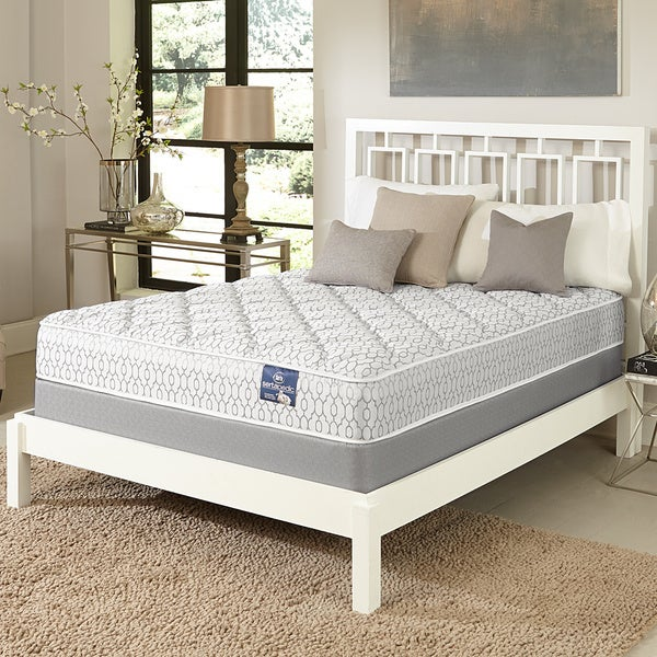 serta gleam plush queen size mattress set free shipping today 17268254. Black Bedroom Furniture Sets. Home Design Ideas