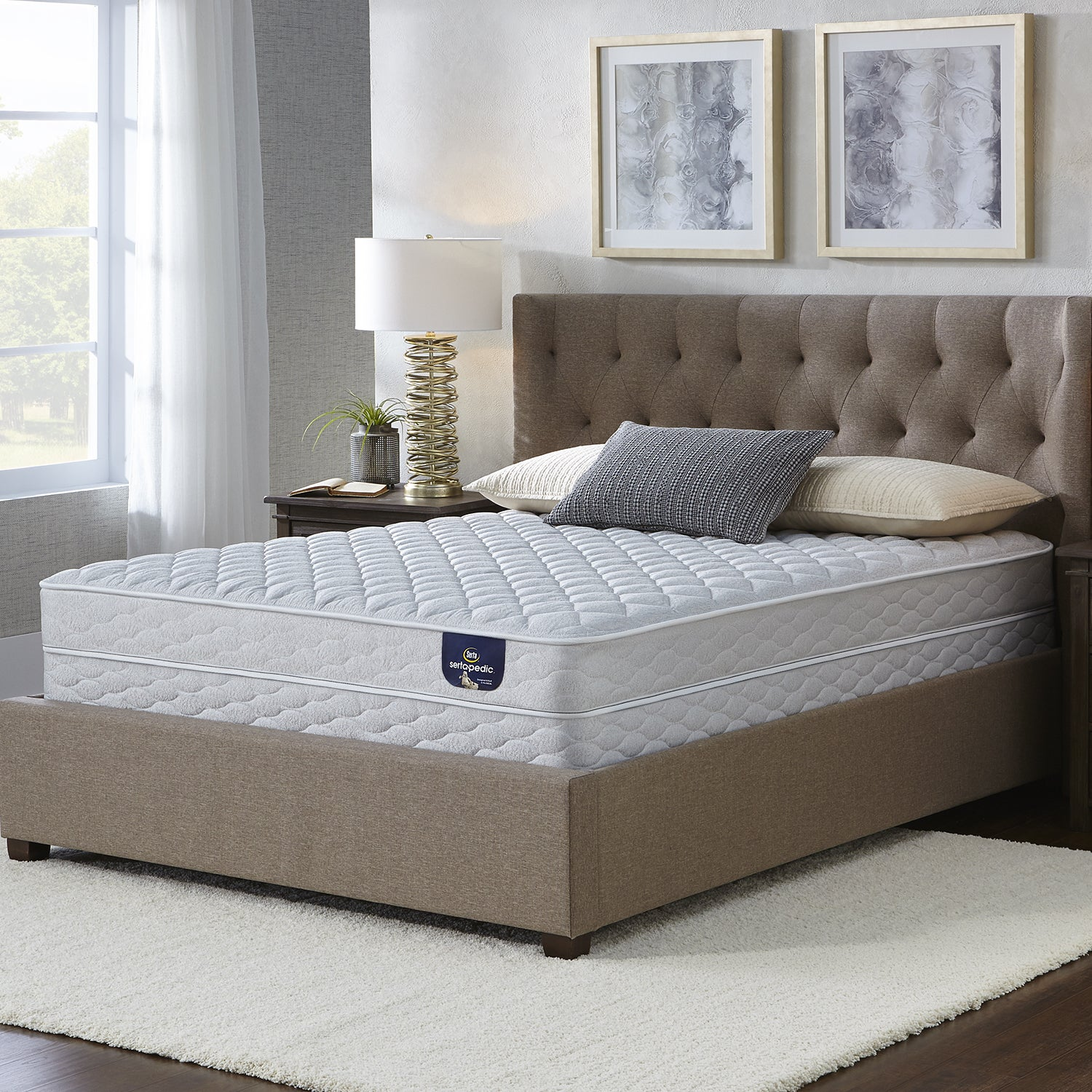 Serta Chrome Firm Split Queen-size Mattress Set (Queen Ma...