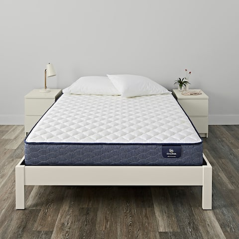 Serta SleepTrue 10-inch Carrollton Firm Innerspring Mattress Set