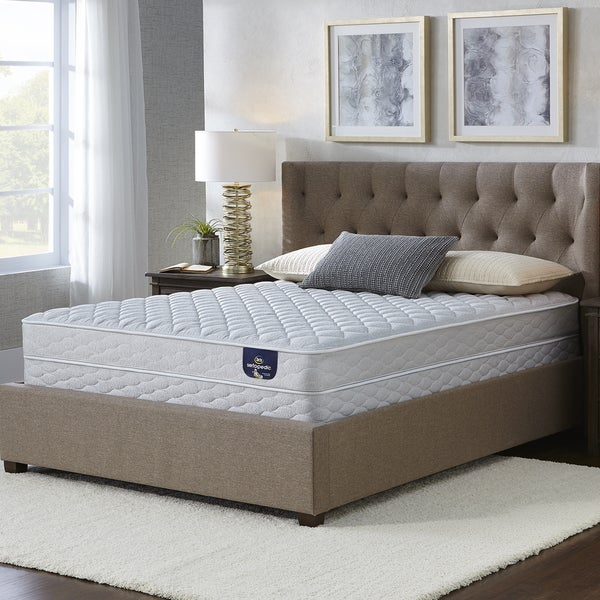 serta chrome firm full size mattress set free shipping today 17268261. Black Bedroom Furniture Sets. Home Design Ideas