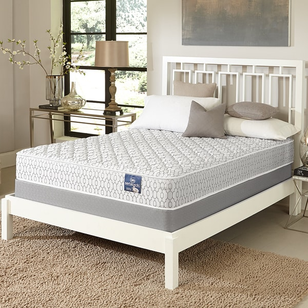 serta gleam firm twin size mattress set free shipping today 17268263. Black Bedroom Furniture Sets. Home Design Ideas