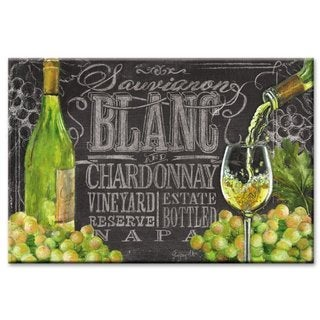 Counterart Glass Cutting Board - Chalkboard Wine- 8x12