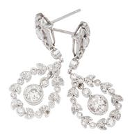 18k White Gold 2ct TDW Hanging Wreath Diamond Earrings (H-I, SI3)