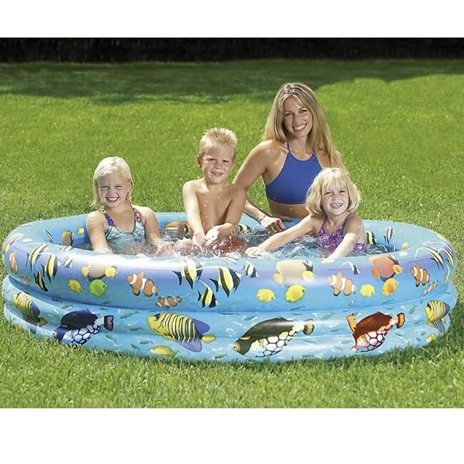 Sunsplash 70x14-inch Inflatable Aquarium Pool (70-inch X ...