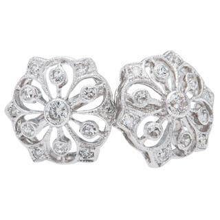 14k White Gold 2/5ct TDW Floral Clustered Diamond Stud Earrings (H-I, SI1-SI2)|https://ak1.ostkcdn.com/images/products/10131140/P17268313.jpg?impolicy=medium