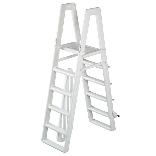 Ocean Blue A-Frame Safety Ladder