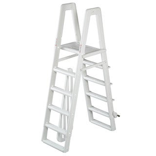 Ocean Blue A-Frame Safety Ladder