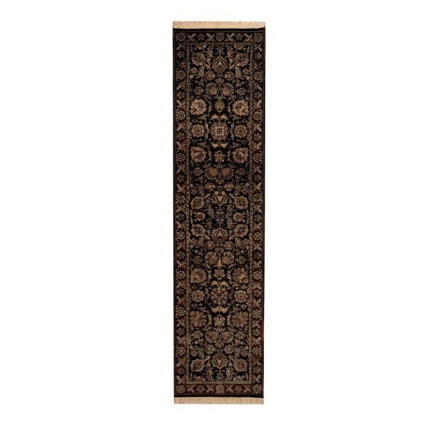 Herat Oriental Indo Hand-knotted Tabriz Wool Runner (2'6 x 10')