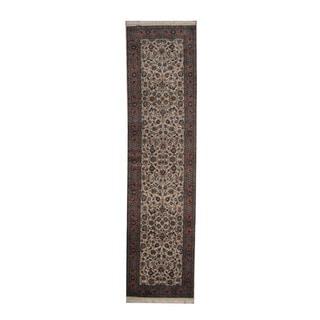 Herat Oriental Indo Hand-knotted Tabriz Wool Runner (2'8 x 9'10)