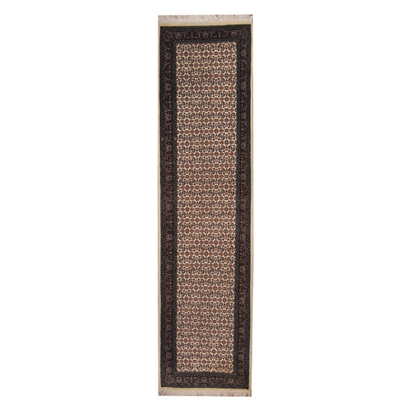 Herat Oriental Indo Hand-knotted Tabriz Wool Runner (2'8 x 10'3)