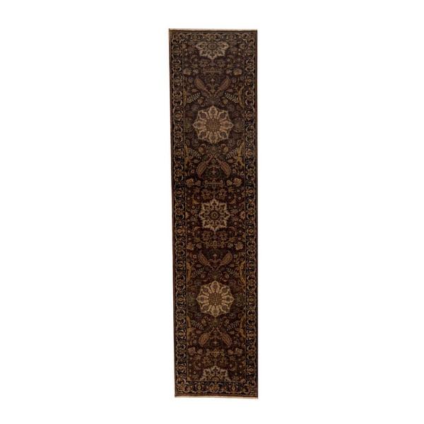 Herat Oriental Indo Hand-knotted Tabriz Wool Runner (2'4 x 10')
