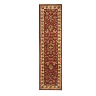 Herat Oriental Afghan Hand-knotted Vegetable Dye Oushak Rust/ Ivory Wool Rug (2'9 x 10'1)