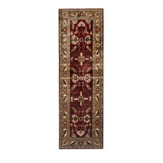 Herat Oriental Afghan Hand-knotted Vegetable Dye Oushak Wool Runner (2'10 x 9')