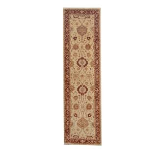 Herat Oriental Afghan Hand-knotted Vegetable Dye Oushak Wool Runner (2'9 x 9'9)
