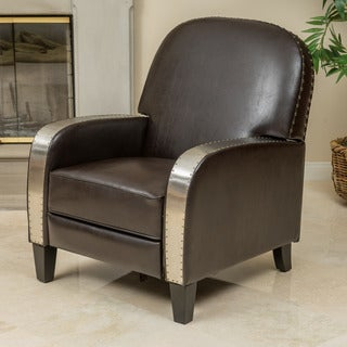 Barrister Bonded Leather Recliner by Christopher Knight Home